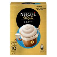 Nescafe Gold Latte Coffee 19.5g x Pack of 8