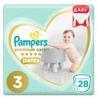 Pampers Premium Care Pants Diapers Carry Pack Size 3 Medium 28 Count 6-11 kg