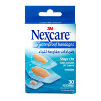 Nexcare Waterproof Bandaged Assorted  30 Bandages