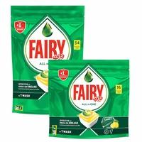 Fairy Dishwasher Detergent Tabltes All in One Lemon 54+16 Tablets
