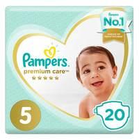 Pampers Premium Care Diaper Mid Pack Size 5 Junior 20 Count 11-16 kg