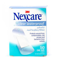 Nexcare Clear Waterproof One Size Bandage 50 Pieces