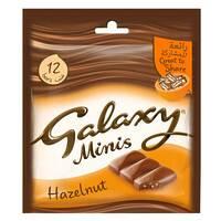 Galaxy Mini Milk And Hazelnut Chocolate Bar 150g (12 Pieces)
