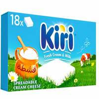 Kiri Spreadable Cream Cheese Squares 18 portions 324g