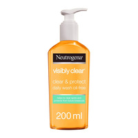 Neutrogena visibly clear clear & protect daily face wash 200 ml