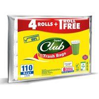 Sanita club trash bag economy pack 8 gallons medium 104 bags x 4 rolls