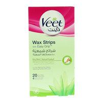 Veet Dry Skin Easy Grip Wax Strip 20 Counts