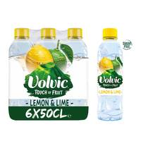 Volvic natural mineral water lemon & lime flavor 500 ml x 6