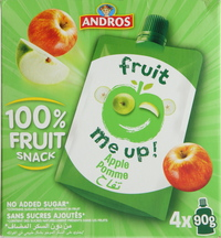 Andros Fruit Me Up Apple 90g x Pack of 4