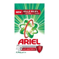 Ariel low foam anti bacterial powder detergent 4.5 Kg