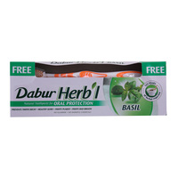 Dabur Herb'l Oral Protection Basil Toothpaste With Brush 150g