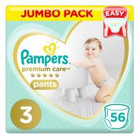 Pampers Premium Care Pants Diapers Size 3 56 Count