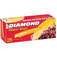 Diamond Medium Zipper Bag 25 Piece