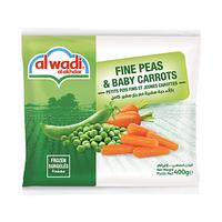 Al Wadi Al Akhdar Peas & Carrots Frozen 400GR