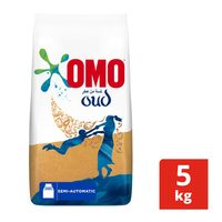Omo active detergent powder high foam with touch comfort oud 5 Kg