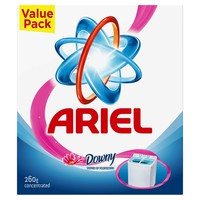 Ariel semi automatic detergent powder high foam downy touch of freshness 260 g