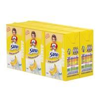 Safio UHT Milk Banana Flavor 125ml x 6 pack