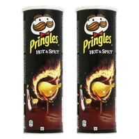 Pringles Hot And Spicy Chips 165g x Pack of 2