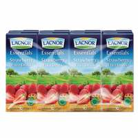 Lacnor Essentials Strawberry Nectar 180ml x Pack of 8