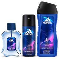 Adidas UEFA V Eau de Toilette 100ml + Shower Gel 250ml + Deodorant Body Spray 150ml