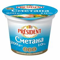 President Cmetaha 10% Fat Sour Cream 200g