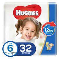 Huggies  Jumbo Pack Diaper Size 6, 32 Counts x2