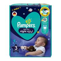 Pampers 3 baby-dry night diapers 7 - 11 kg x 80