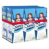 Safio UHT Milk Plain 125ml x 6 pack