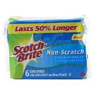 Scotch Brite Non Scratch Scrub Sponges 6 Piece