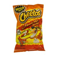Cheetos Crunchy Flamin Hot Cheese Snacks 99.2g