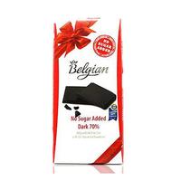 Belgian Dark Chocolate No Sugar Added 70% Cocoa 100GR