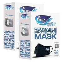 Fine Guard Comfort Adult Face Mask With Virus-Killing Livinguard Technology Size Medium X2