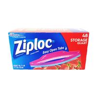 Ziploc Storage Bags Quart 48 Pieces