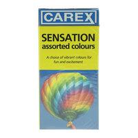 Carex Sensation Assorted Colour Condom Pack of 12