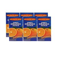 Maccaw Juice Orange 125ML X6