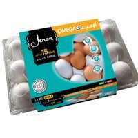 Jenan Omega3 white Large 15 Eggs