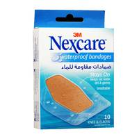 Nexcare Waterproof Adhesive Bandages 10 Stripes