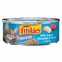 Purina Friskies Shreds Ocean Whitefish and Tuna in Sauce 156g