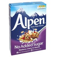 Alpen No Added Sugar Blueberry, Cherry and Almond Muesli 560g