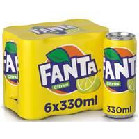 Fanta Citrus Soft Drink 330ml x Pack of 6