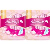 Always Diamond Cotton Soft Maxi Thick Large sanitary Pads with Wings 48 Pads