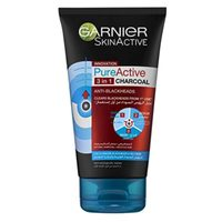 Garnier Skin Active 3 in 1 Pure Active Charcoal Wash Scrub and Mask 150ml