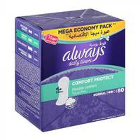 Always pantyliners comfort protect normal 80 pieces