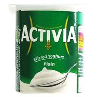 Activia Stirred Plain Yoghurt 125g x Pack of 4