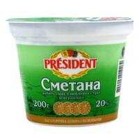 President Cmetaha 20% Fat Sour Cream 200g