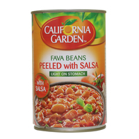 California Garden Canned Peeled Fava Beans With Salsa 450g