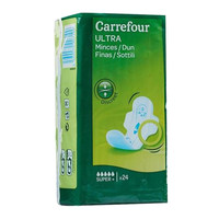 Carrefour ultra pads super + with wings 24 pads