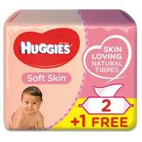 Huggies Baby Wipes Soft Skn 56 Wipes x3