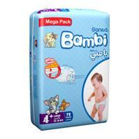 Bambi mega pack 4 large + 78 diapers
