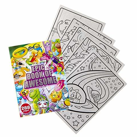 Gift for Kids 5 6 Ages 3 96 Coloring Pages 4 Crayola Fairy Tale Coloring Book with Stickers